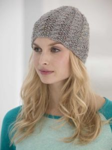 Cabled Tweed Hat