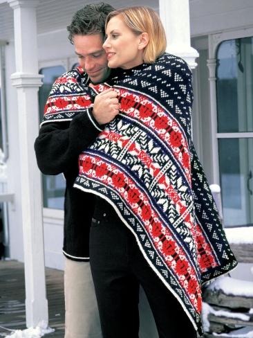Knitting Patterns Galore Nordic Lap Blanket