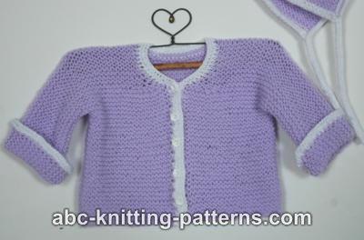 Knitting Patterns Galore - Easy Garter Stitch Baby Cardigan