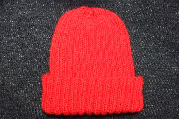 Simple Knitting Pattern For Scarf : Knitting Patterns Galore - Basic Ribbed Baby/Child Hat