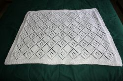 Diamond Lace Panel Blanket