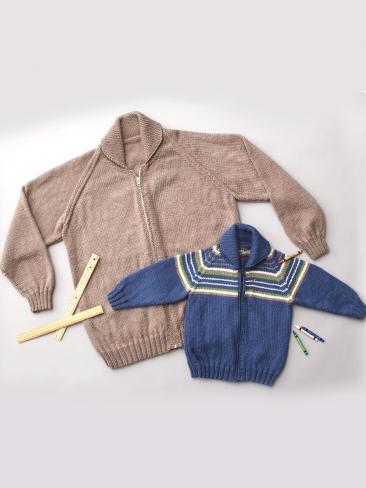 Raglan Jacket Knitting Pattern : Knitting Patterns Galore - Unisex Adult Raglan Sleeve Jacket