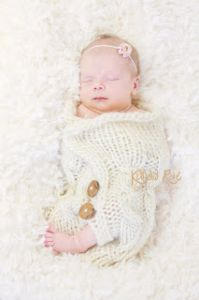 Cabled Baby Cocoon