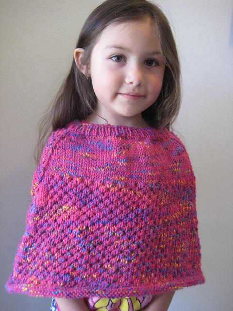 Knitting Patterns Galore Cellular Stitch Kids Poncho
