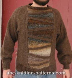 Cubist Short Row Seamless Men's Sweater
