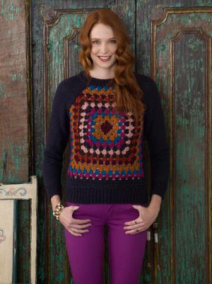Knitting Patterns Galore Granny Raglan Pullover