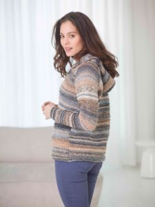 Ridged Hooded Cardigan