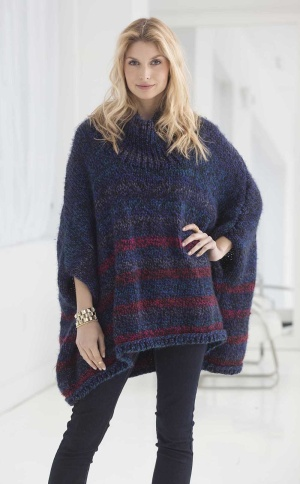 Knitting Patterns Galore - Penelope Poncho