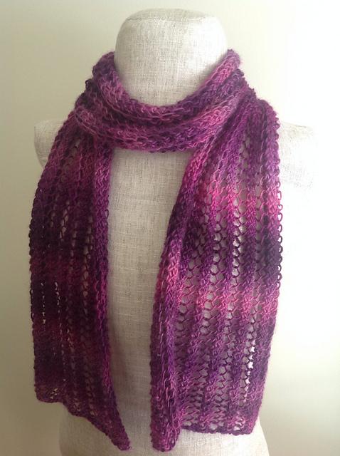 Knitting Patterns Galore - Lacy Petunia Scarf