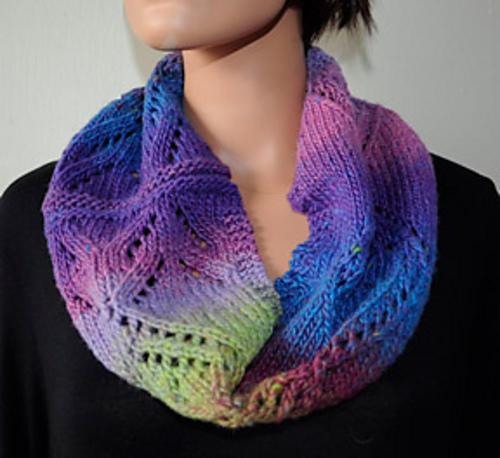 Knitting Patterns Galore Diamond Lace Cowl