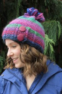 Slip Stitch Button Hat