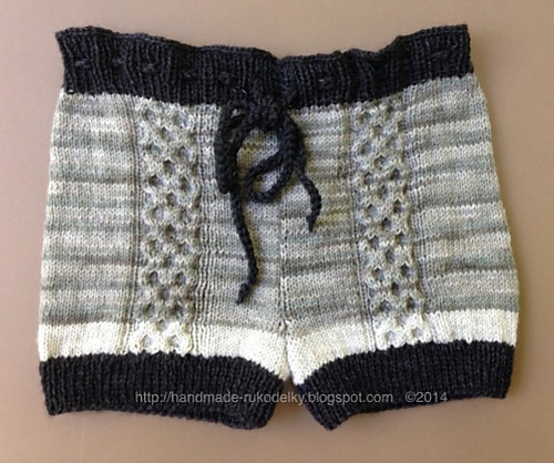 Knitting Patterns Galore - Shorts With Cable
