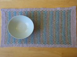 Long-Slip Striped Table Runner