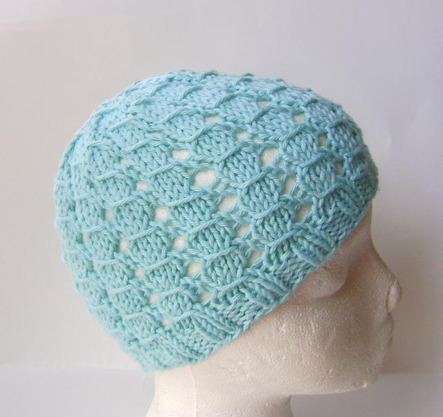 Knitting Patterns Galore - Summer Cotton Lace Hat