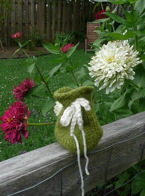 Knitting Patterns Galore Felted Mini Drawstring Bag