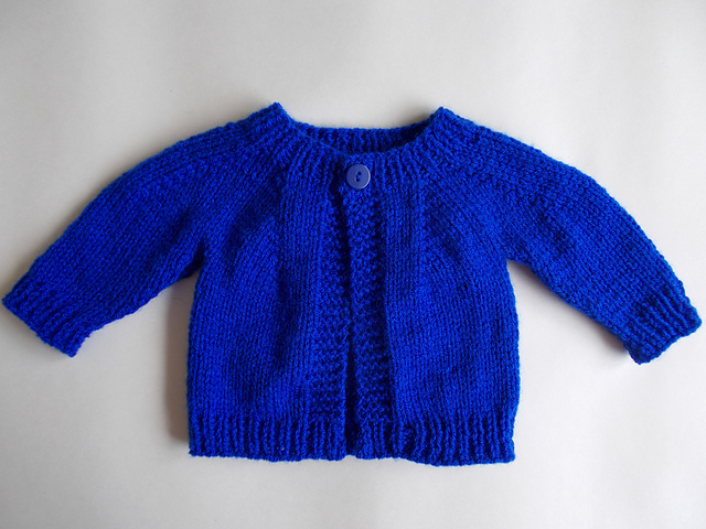 Knitting Patterns Galore - Perfect Baby Boy or Girl Top Down DK Jacket