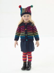 Colorful Cardigan And Hat