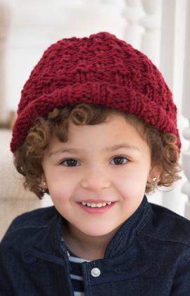 Child's Rolled Brim Hat Knitting Pattern