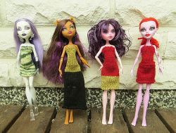 Summer Party Dresses for Monster High dolls