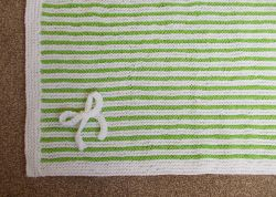 Easy Garter Stitch Striped Baby Blanket