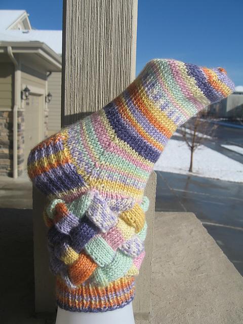 Knitting Patterns Galore Andrea Entrelac Socks