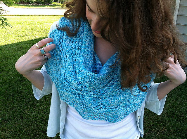Knitting Patterns Galore Turquoise Summer Scarf