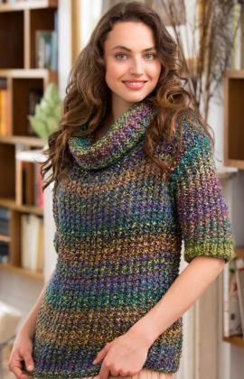 c09a7b3298b6 ... Knitting Pattern. Cowl Neck Slouchy Sweater · Click to Enlarge