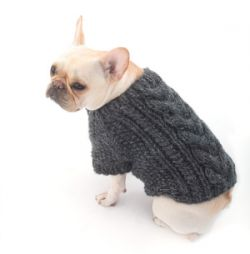 Cabled Dog Cardigan