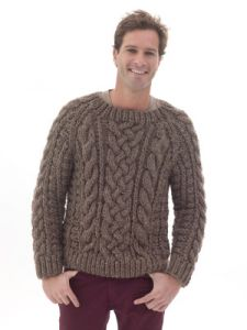 Raglan Cabled Pullover