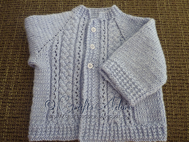 Knitting Patterns Galore Handsome Cables Baby Boy Cardigan