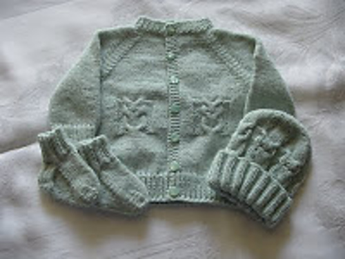 Knitting Patterns Galore Little Owl Sweater Set