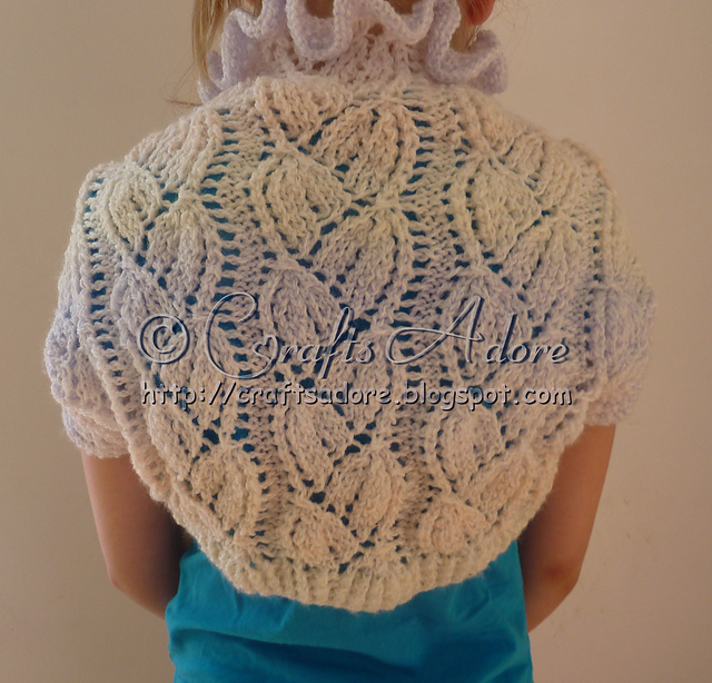 Knitting Patterns Galore Lacy Bellflowers Shrug
