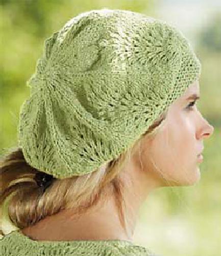 Knitting Patterns Galore - Lace Beret