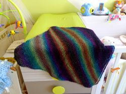 Sock Yarn Baby Blanket