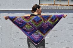 Mitered Diamond Shawl