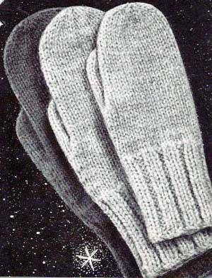 Knitting Patterns Galore - Classic Mittens