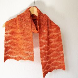 Wellengang Short Row Scarf