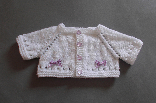Knitting Patterns Galore Mini Maxine Baby Cardigan Jacket