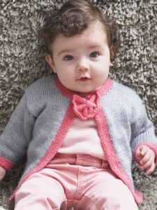 Pretty Bow Tie Baby Cardigan