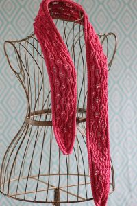 Vertical Drop-Stitch Scarf