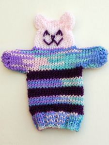Knitted Teddy Hand Puppet