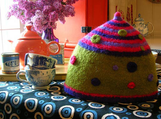 Knitting Patterns Galore Felted Tea Cosy