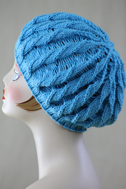 Knitting Patterns Galore Hats : Knitting Patterns Galore - Twilled Stripe Hat