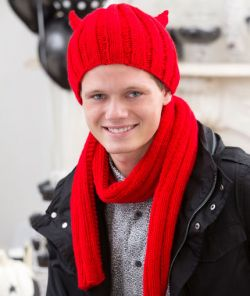 Devilish Hat and Scarf