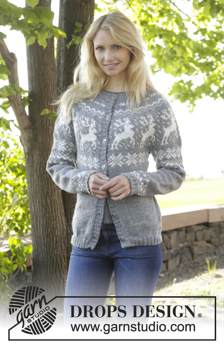Knitting Patterns Galore - Silver Stag Cardigan