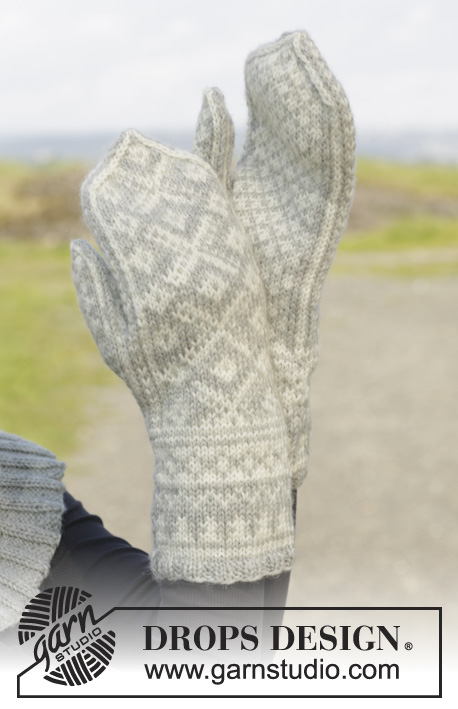 Knitting Patterns Galore - Silver Dream Mittens