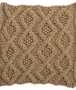 Seed Stitch Diamonds Square for Knit Your Cables Afghan