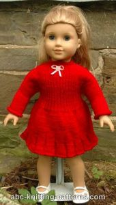 American Girl Doll Little Red Dress