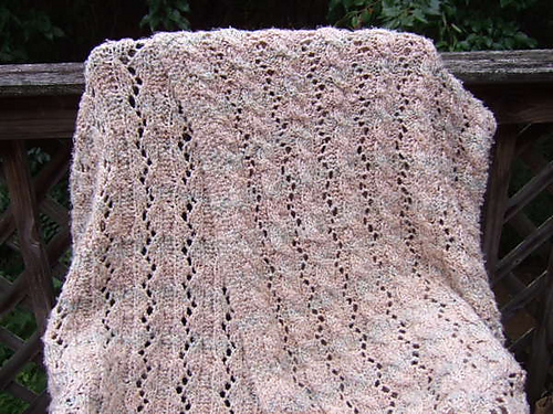 Knitting Patterns Galore - Reversible Cable and Lace Afghan