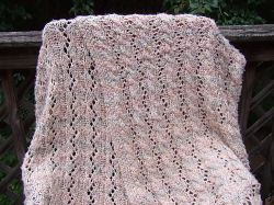 Reversible Cable and Lace Afghan